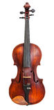 Front view of standard full size violin isolated Royalty Free Stock Photos