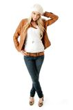 Front view of standing young model Royalty Free Stock Photo