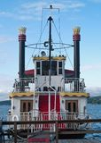 Front view of a steamboat Stock Images