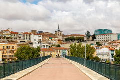 Front view of a stone bridge in Zamora, Spain Stock Images