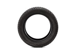 Front view studio shot of a single car tire royalty free stock photography