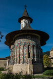 Front view of Sucevita monatery's church. In Bukovina, (Bucovina), Moldavia (Moldova Stock Images