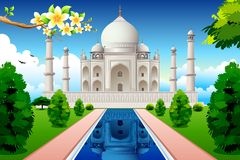 Front View of Taj Mahal Stock Photos