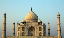 A front view of the Taj Mahal in Agra, India Royalty Free Stock Photo