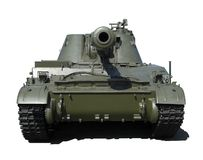 Front view of a tank isolated. Front view of a russian tank isolated Royalty Free Stock Images