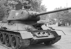 Front view of tank of the Soviet tank Royalty Free Stock Photo