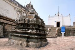 Front view of Terina Basadi, Chandragiri hill, Sravanabelgola, Karnataka. India royalty free stock photos