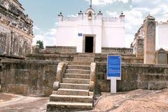 Front view of Terina Basadi, Chandragiri hill, Sravanabelgola, Karnataka. India royalty free stock image