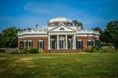 Front view of Thomas Jefferson's Monticello home Royalty Free Stock Photos