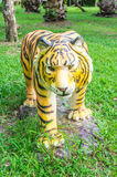 Front view tiger statue Royalty Free Stock Images