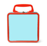 Front view of tin lunch box Royalty Free Stock Image