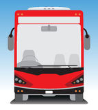 Front view of Tourist bus Royalty Free Stock Images