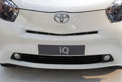 Front view on Toyota car iQ Stock Photo