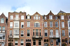 Front view of traditional buildings in Amsterdam Stock Image
