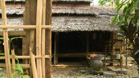 Front view of a traditional Burmese house, Myanmar