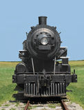 Front view train steam locomotive. Royalty Free Stock Photos