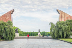 Front view of Treptower park in Berlin on summer day Royalty Free Stock Image