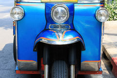 Front view of tuk tuk symbol vehicle of thailand Stock Image