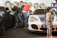 Front view of tunned Porsche 911 car on Belgrade car show Royalty Free Stock Photography