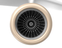 Front view of turbofan jet engine. Royalty Free Stock Photography