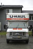 Front View Of A U-Haul Truck Royalty Free Stock Photo