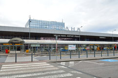 Front view of Vaclav Havel Airport Prague Stock Photography
