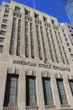 Front View van Amerikaanse Beurs, New York Stock Afbeeldingen