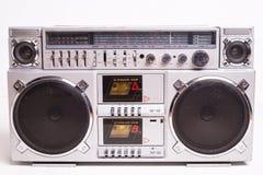 Front View van een Uitstekende die Speler van de de Cassetteband van de Boomdoos op Witte Achtergrond wordt geïsoleerd royalty-vrije stock afbeeldingen