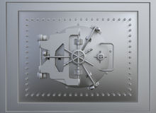 Front view of a vault door Stock Photo