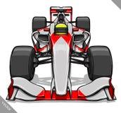 Front view vector fast cartoon formula race car illustration art Stock Image