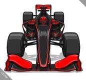 Front view vector fast cartoon formula race car illustration art Royalty Free Stock Photo