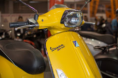 Front view of Vespa sprint motorcycle Royalty Free Stock Images