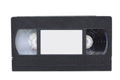 Front view of vhs video tape with label stock photo