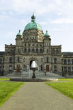 Front view of Victoria Canada capital building Stock Photos