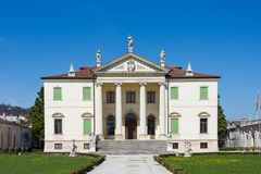 Front view of the Villa Cordellina Lombardi in Montecchio Maggiore, Veneto. Italy royalty free stock image