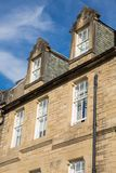 Front view of vintage facades in Edinburgh Royalty Free Stock Photo