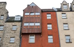 Front view of vintage facades in Edinburgh Stock Photos
