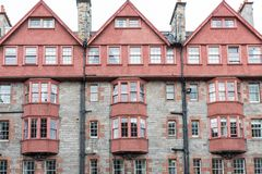Front view of vintage facades in Edinburgh Stock Image