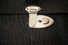 Front view of vintage suitcase locker Stock Photography