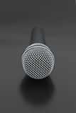 Front View of Vocal Microphone Royalty Free Stock Photo