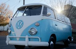Front view of Volkswagen Antique Vehicle Royalty Free Stock Photo