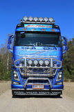 Front view of Volvo FH16 Timber Truck on Country Road Royalty Free Stock Photo