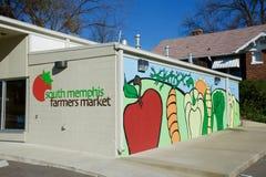 Front View vom Süd-des Memphis Farmers Markt Stockbild