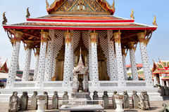 Front view of  Wat Arun temple. In Bangkok city, Thailand Royalty Free Stock Image