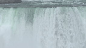 Front View of Water Falling in the Horseshoe Fall in Niagara Falls Royalty Free Stock Images