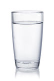Front view of water glass Royalty Free Stock Photos
