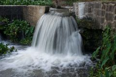 A front view of a waterfall royalty free stock photography
