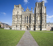 Front view of Wells Cathedral Royalty Free Stock Photos