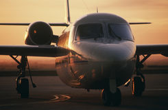 Front view Westwind jet on tarmac Stock Photography