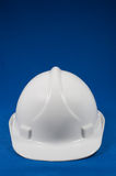 Front view of white hard hat Royalty Free Stock Photos